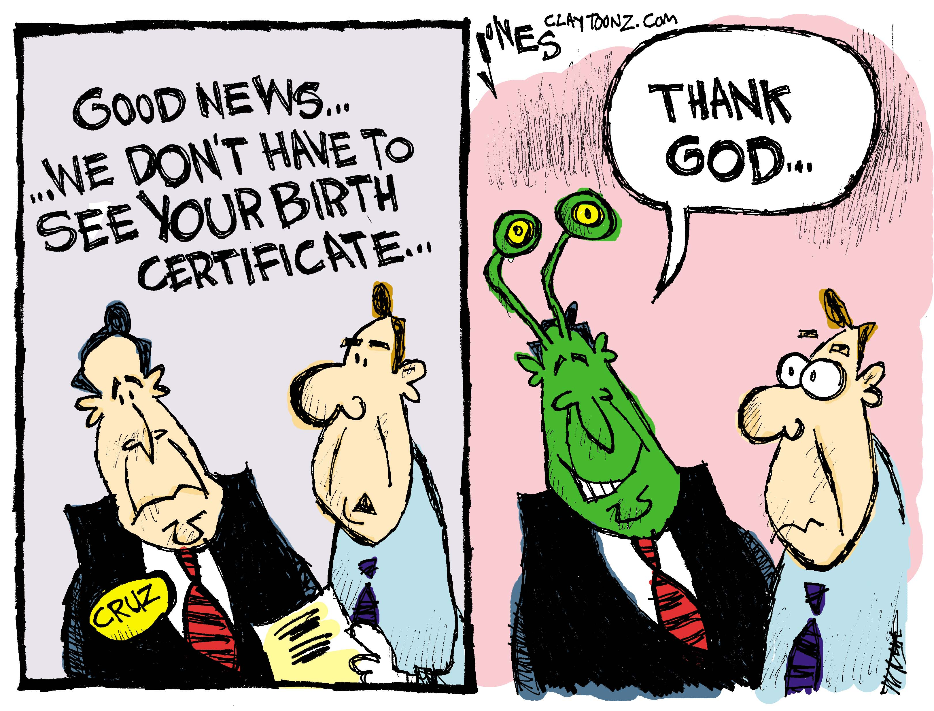 Ted Cruzs Birth Certificate Claytoonz