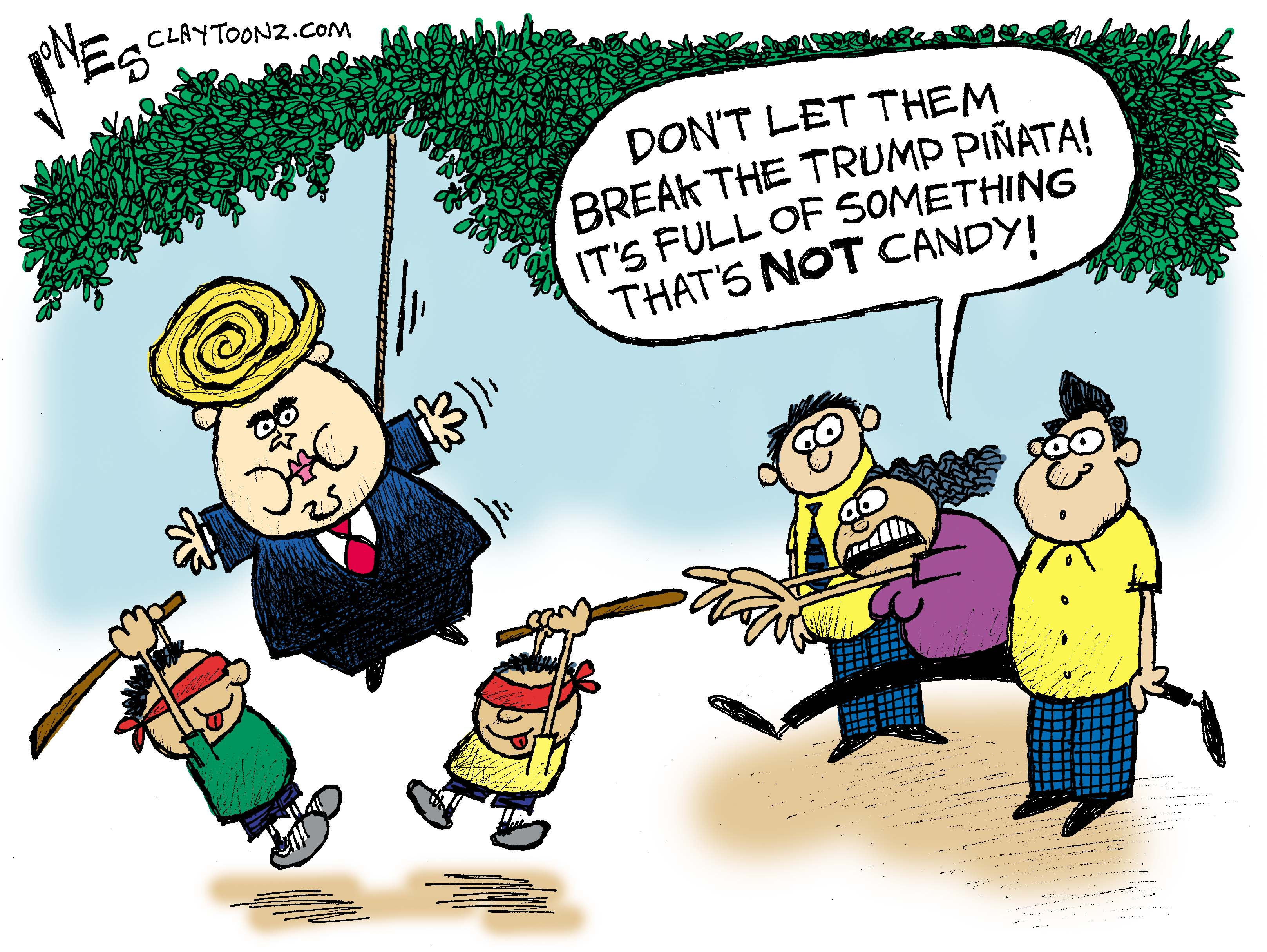 Image result for cartoons on trump and immigration