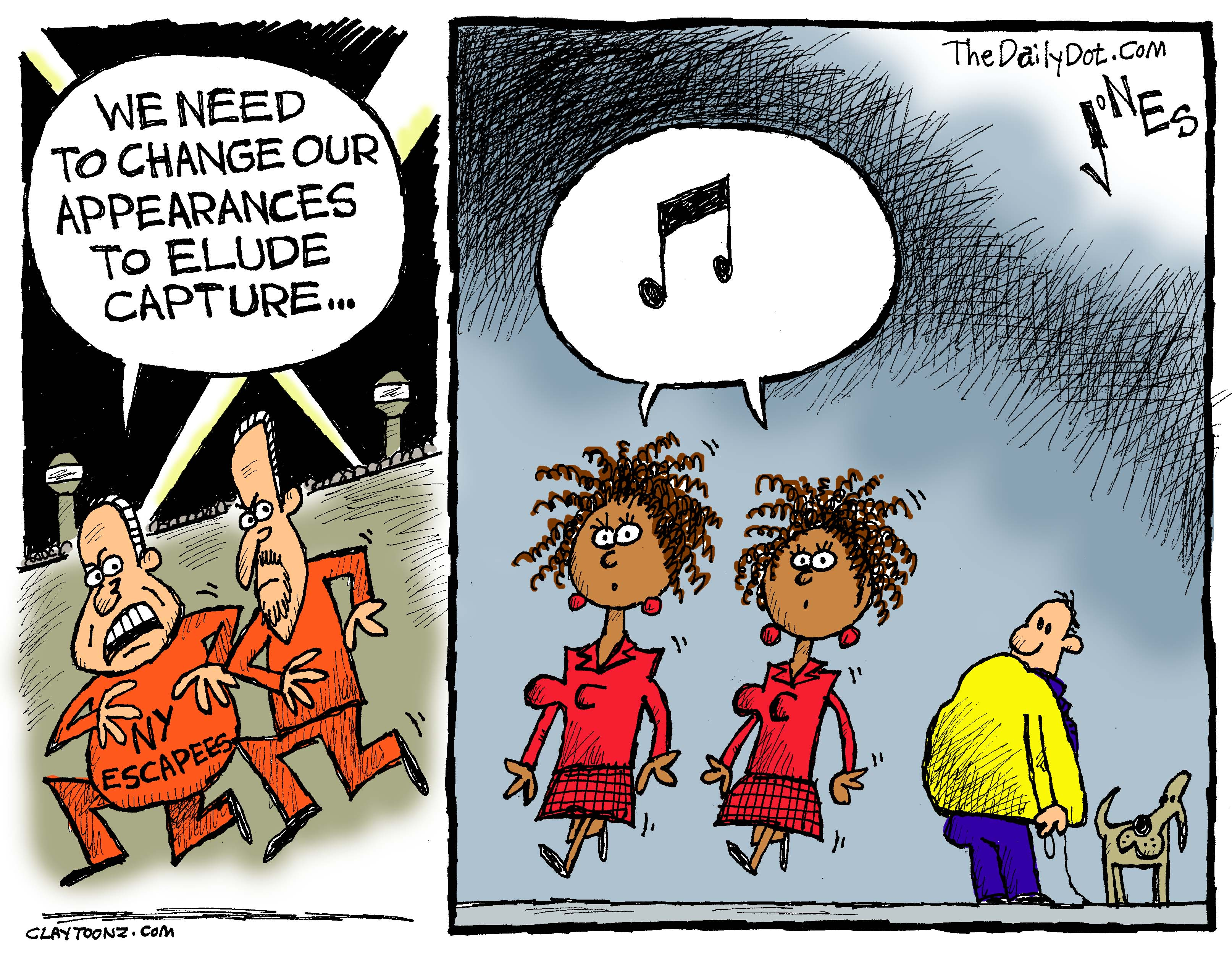 new york escapees cartoon for the daily dot claytoonz