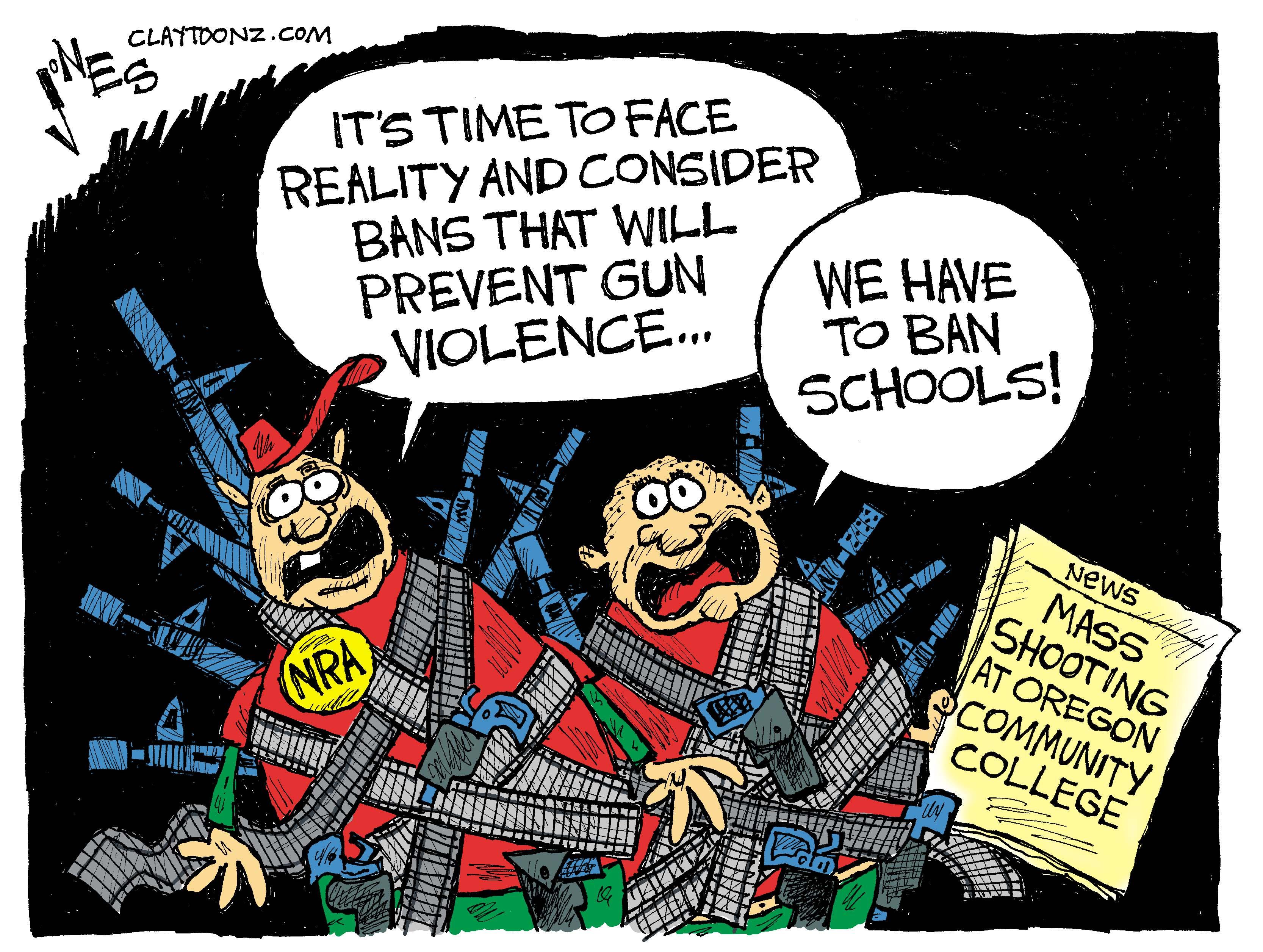 Image result for mass shooting cartoons