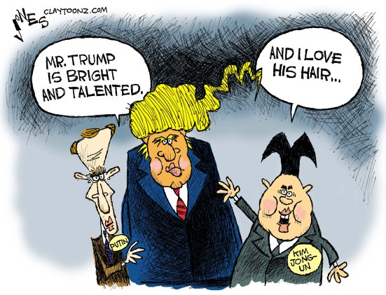Image result for kim and trump cartoons