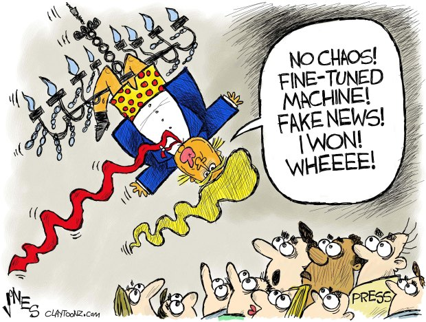 Image result for CARTOON TRUMP CHAOS