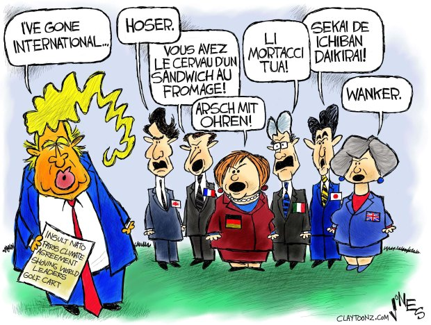 Image result for trump g7 cartoon