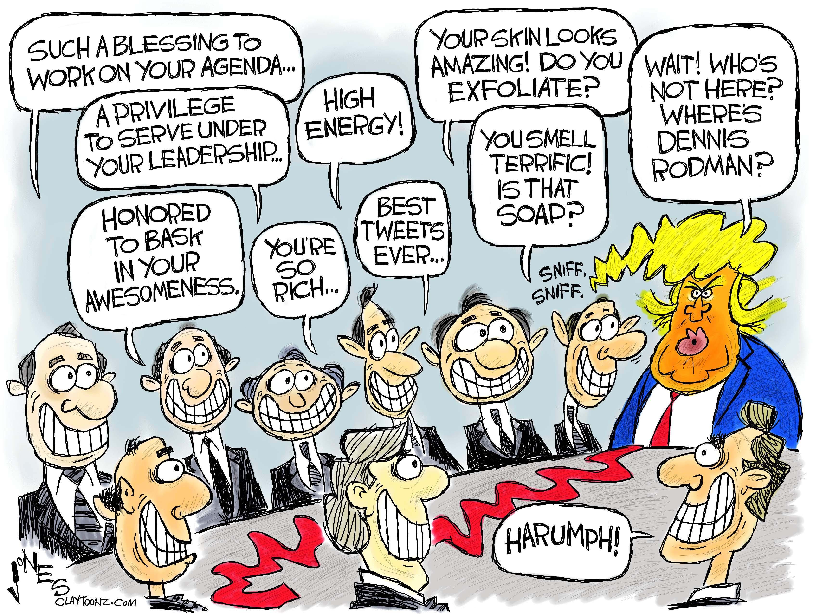 Trump Cabinet   claytoonz