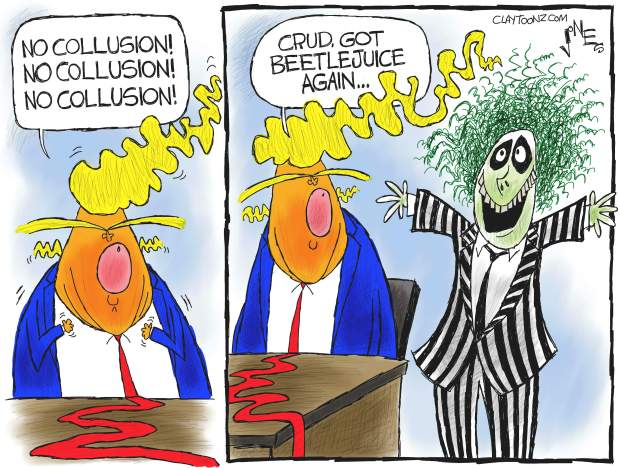 Image result for cartoon trump no collusion