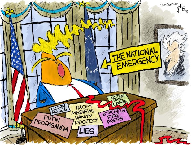 Image result for trump emergency cartoon