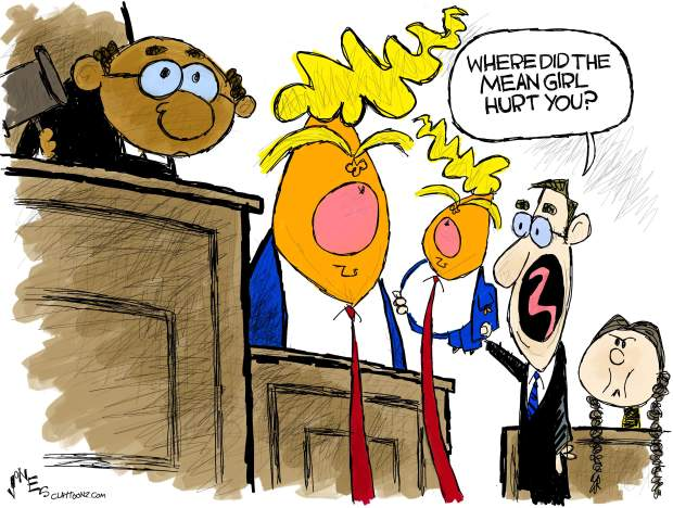 Mean Girl Hurts Trump | claytoonz